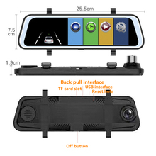 10 Inch Car DVR Camera Stream Media Rearview Mirror IPS Touch Screen FHD Dash Cam Registrar Video Recorder DVRs
