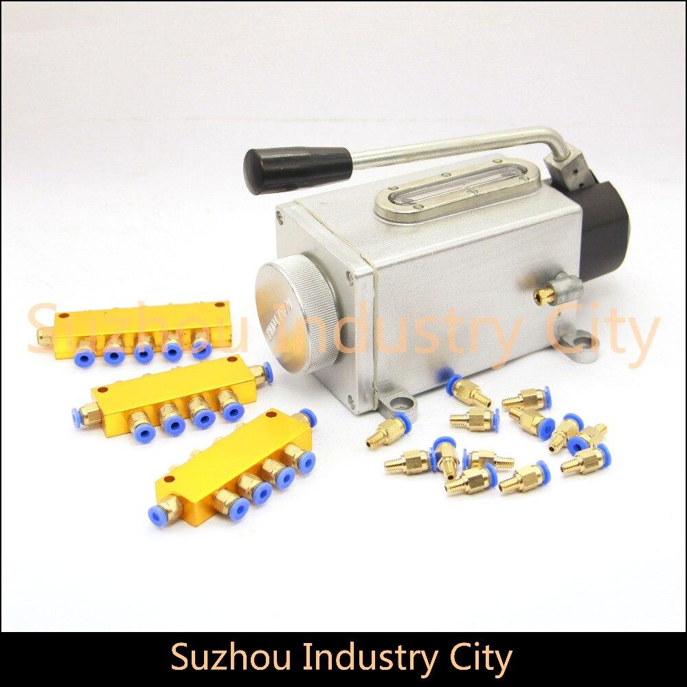 Pompe à huile CNC routeur machine manuelle longue pompe à huile, pompes à injection manuelle, systèmes de lubrification, graisseur pour graveur de CNC