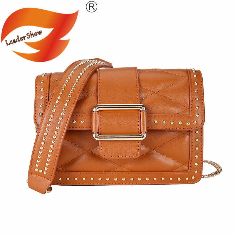 Shoulder Bag Fashion Flip Handbag Women s Leather Crossbody Bag Summer New  Retro 2018 Messenger Bag Khaki Girl Mini Bag Trend 5e881da605b62
