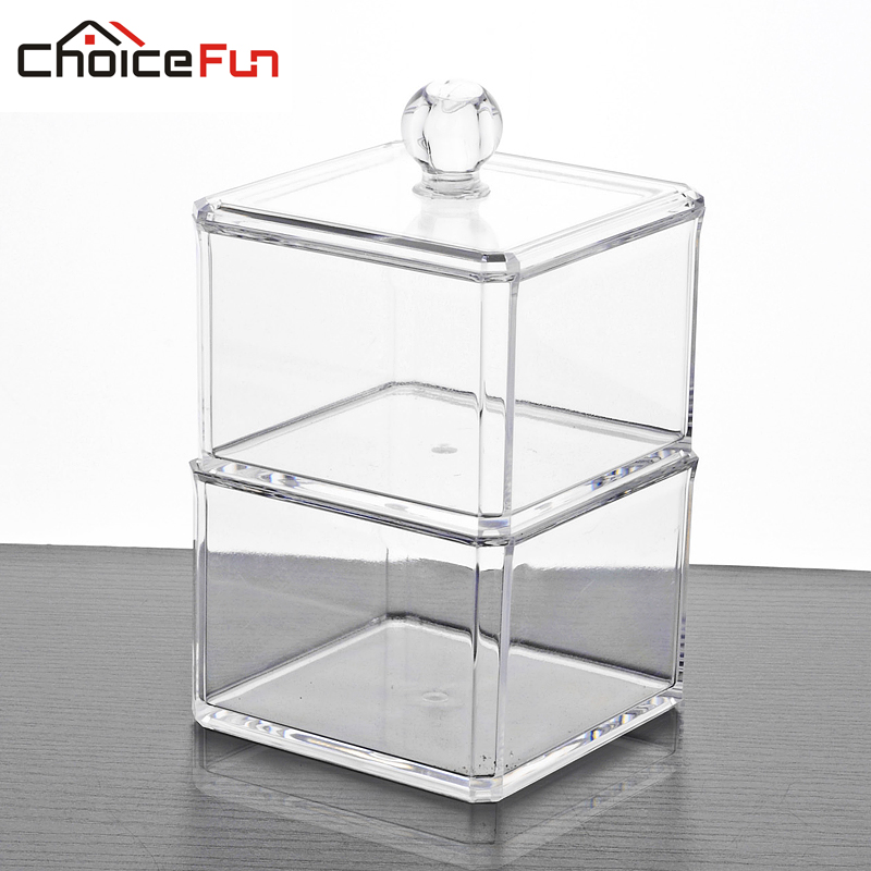 CHOICE FUN 2017 Hot Sale Housekeeping Organization Acrylic Jewelry Organizer Clear Large Jewelry Box Desk Decoration Box SF-1182