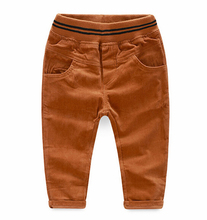 2017 autumn children's clothing boys pants solid thin girls corduroy pants for boys girls kids causal pants long trousers