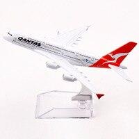 Passenger Plane Airbus A380 800 Qantas Spirit Of Australia Metal Airplane Model Alloy Air Plane With