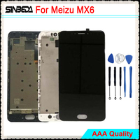 Sinbeda 5 5 Brand New LCD Pantalla For Meizu MX6 LCD Display Touch Screen Digitizer Assembly
