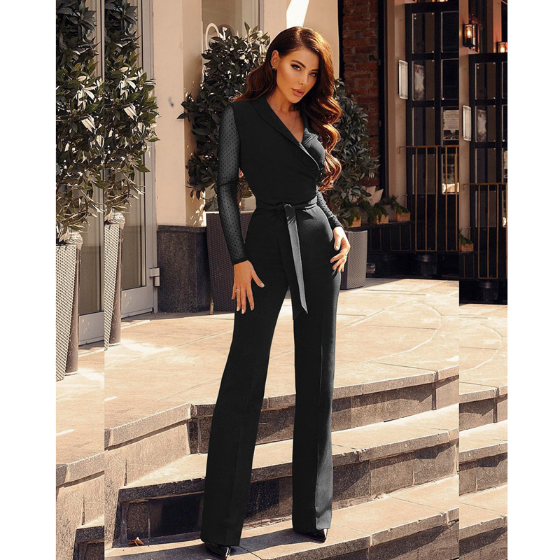 Sexy Lace Bandage   Jumpsuit   For Women 2018 Autumn Winter Vintage Office Lady   Jumpsuits   Macacao Feminino Rompers Womens   Jumpsuits