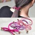 Popular banda de pelo de producción de Nylon de moda bowknot bandas elásticas del pelo del metal de la pequeña bola