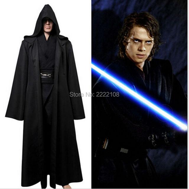 2018 new star wars anakin skywalker cosplay costume made jedi knight hooded cloak robe halloween costumes