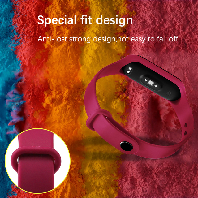 BOORUI for xiaomi mi band 4 strap new fashional colorful miband 4 strap silicone mi band 4 belt replacement for xiaomi mi 4 band 4
