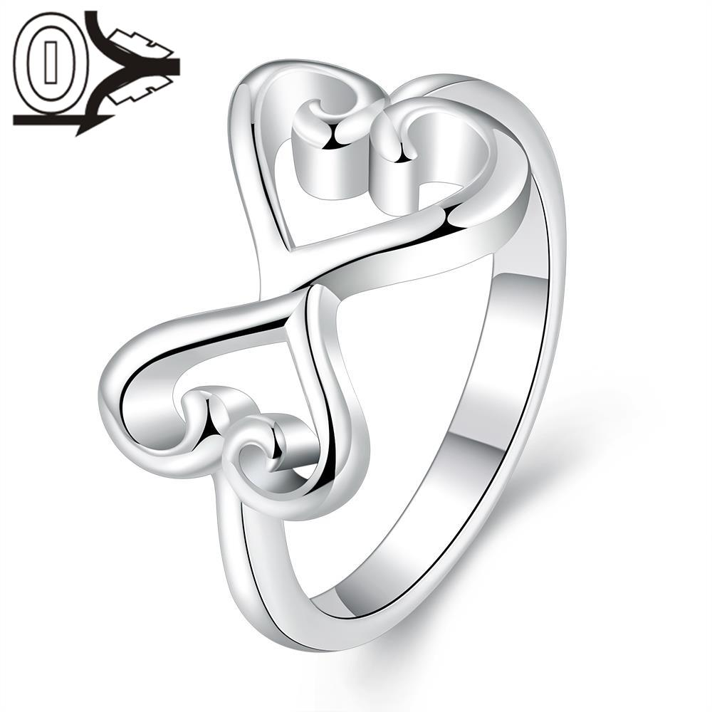 Christmas Gift Hot Sell Silver-plated Ring,Silver Fashion Jewelry,Women&Men Gift Dependent Personality Heart Silver Finger Rings