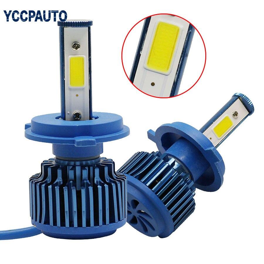 LED healights H4 Фары Лампы Hi/Lo луч DRL Туман автомобильной Переделочные комплекты лампы 60 Вт 6000lm 6000 К белый ...