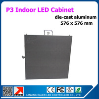 TEEHO Promotion !die-cast aluminum p3 led smd2121 indoor full color led display cabinet 20''x20'' rental led display billboard