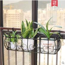 European iron balustrade flower frame guardrail hanging balcony type pot