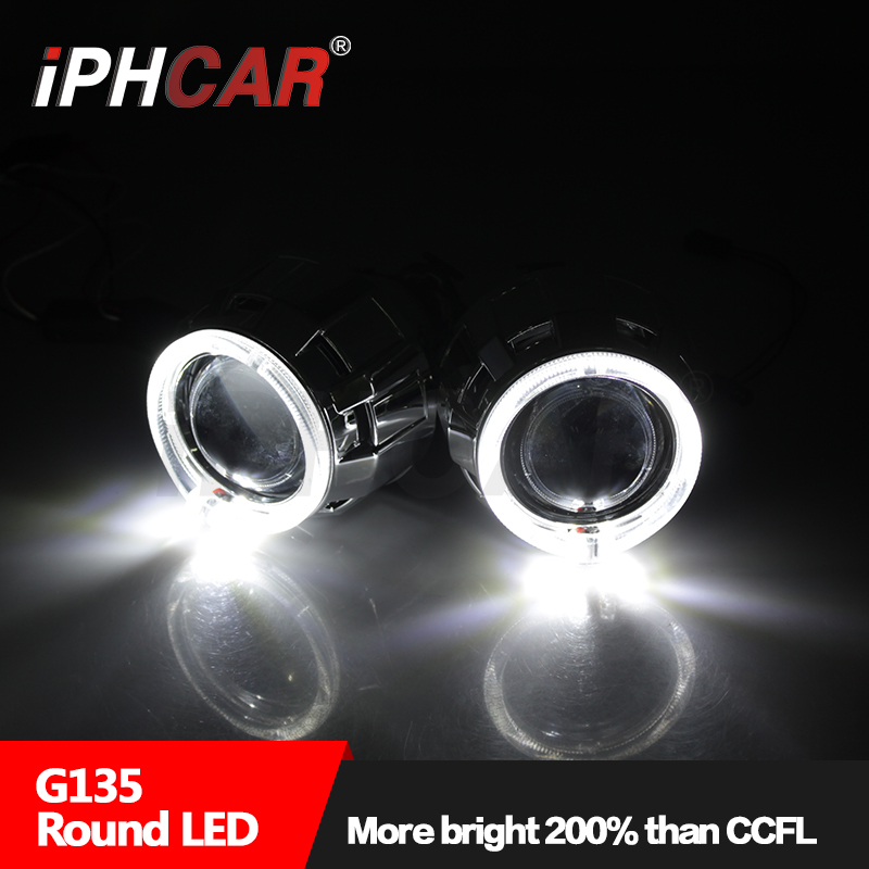 Free Shipping IPHCAR Car Styling H1 Xenon Bulbs HID Projector Lens Auto Accessorie with Light Guide Shrouds For Toyota/Honda
