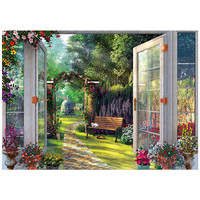 Quiet garden scenery For Embroidery Needlework 14CT Counted Unprinted DMC DIY Cross Stitch Kits Handmade Art Wall Decor