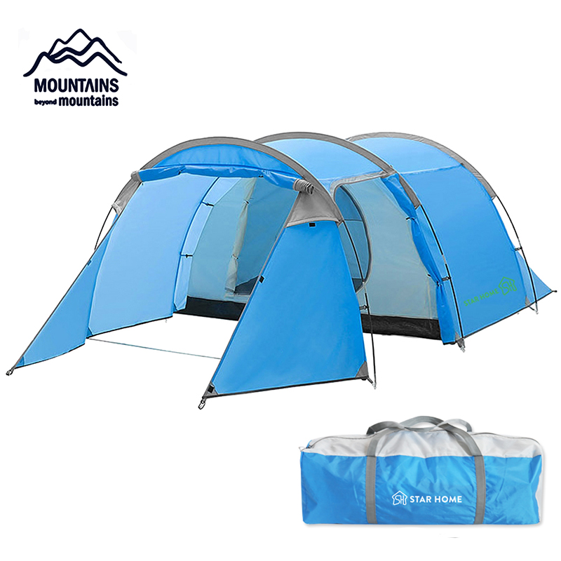 2019 New Tent Outdoor Camping 2 3 People Camping Tent Waterproof Tourist Tent Hiking Fishing Tent