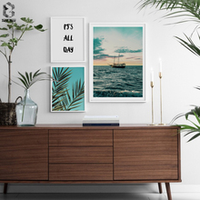 Tropical Decoration Scandinavian Palm Tree Canvas Landscape Poster Motivation Nordic Wall Art Print Painting Decorative Picture