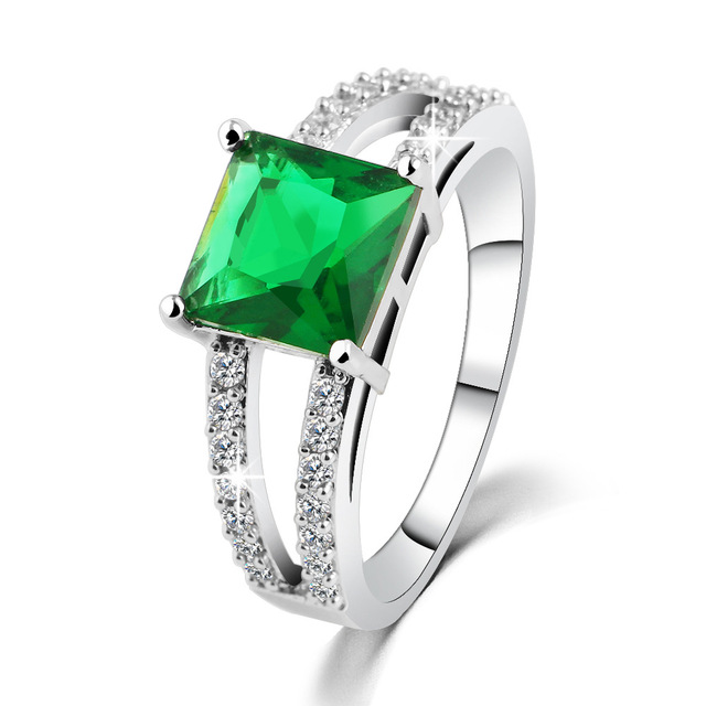 Women Fashion Crystal Ring The New Female Silver Plated Pop Czech Diamond Wedding Manufacturers