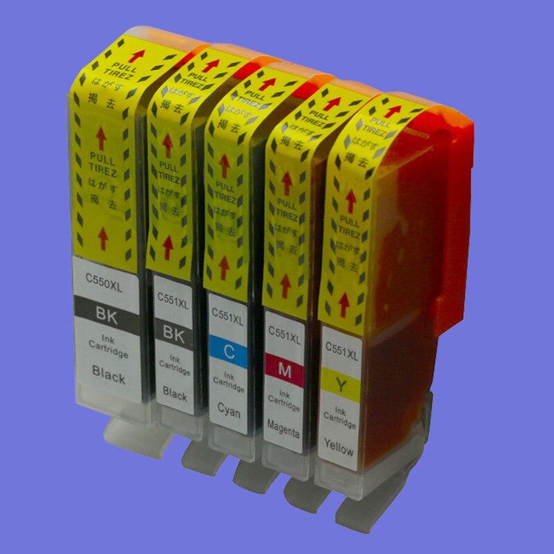 PGI550 550 CLI551 551 чернила для замены картриджа для Canon PIXMA MX925 MG5450 MG5550 MG6350 MG7150 IP7250 струйный принтер