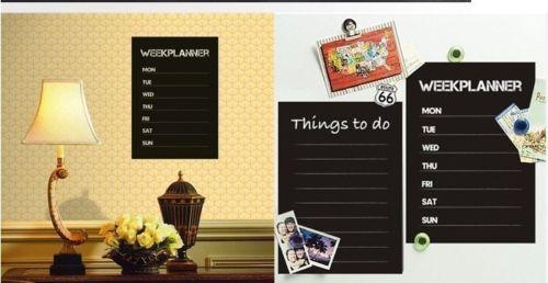 Weekly Planner Calendar MEMO Chalkboard Blackboard Quote Wall ...