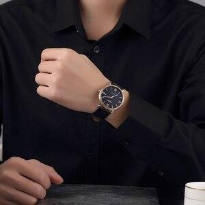 Image 5 - NAKZEN Men Business Automatic Mechanical Watches Brand Luxury Leather Man Wrist Watch Male Clock Relogio Masculino Miyota 9015