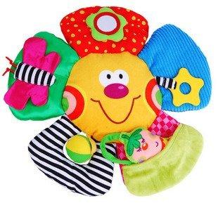 Candice guo! mais novo brilhante colorido do bebê brinquedos de pelúcia big face flor em forma de brinquedo do bebê mais gosta 1 pc