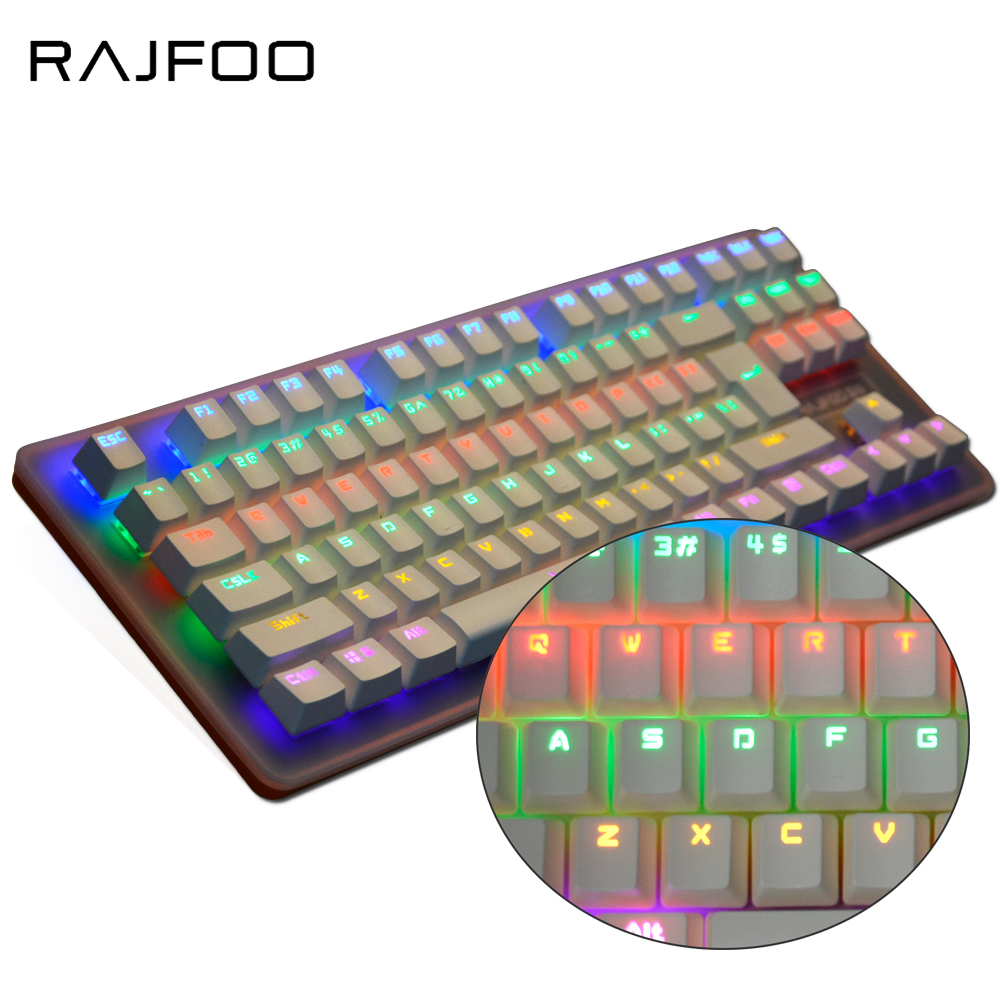 RAJFOO Keyboard Wired Gaming Mechanical Keyboard Gamer Colour Switches Led Backlight For Teclado Gamer Mechanical Keyboard rajfoo three backlight colors usb wired gaming keyboard