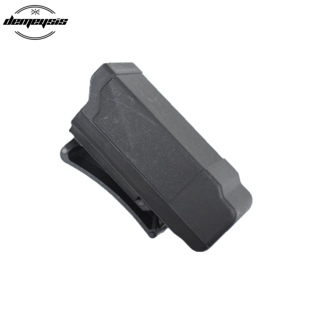 Black Polymer Holster magazine pouch black <font><b>gun</b></font> magazine pouch for <font><b>9mm</b></font> to .45 caliber <font><b>glock</b></font> magazine pouch image