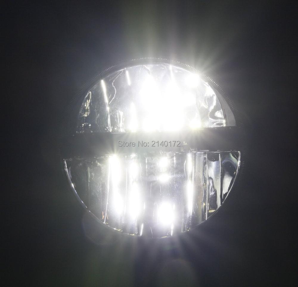 Sepasang 7 inch Hitam Putaran LED Headlight Dengan Tinggi / Rendah - Lampu mobil - Foto 6