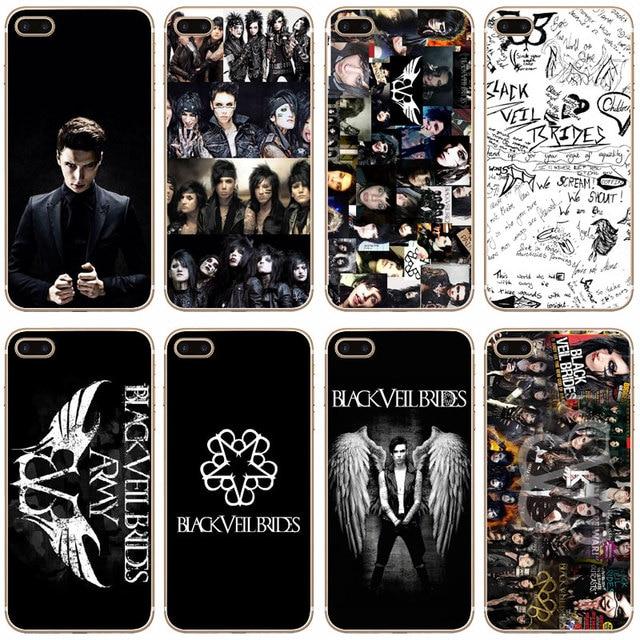 best service 669f6 781b6 US $1.58 |G65 Black Veil Brides Bvb Transparent Hard Thin Case Cover For  Apple iPhone XR XS Max 4 4S 5 5S SE 5C 6 6S 7 8 X Plus-in Fitted Cases from  ...