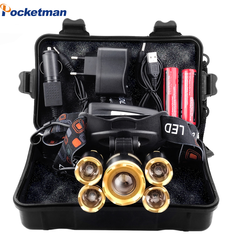 Phare 50000lm Torche 18650 Pêche Pour 35 Mieux Xml Le Batterie CampingLa Frontale T6 Avec Led Lampe jAL5R34