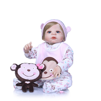 Soft Full Silicone Body Newborn Bebe Doll Pacifier Reborn Babies Realistic Baby girl Reborn Doll Kids Toy Doll for Sale