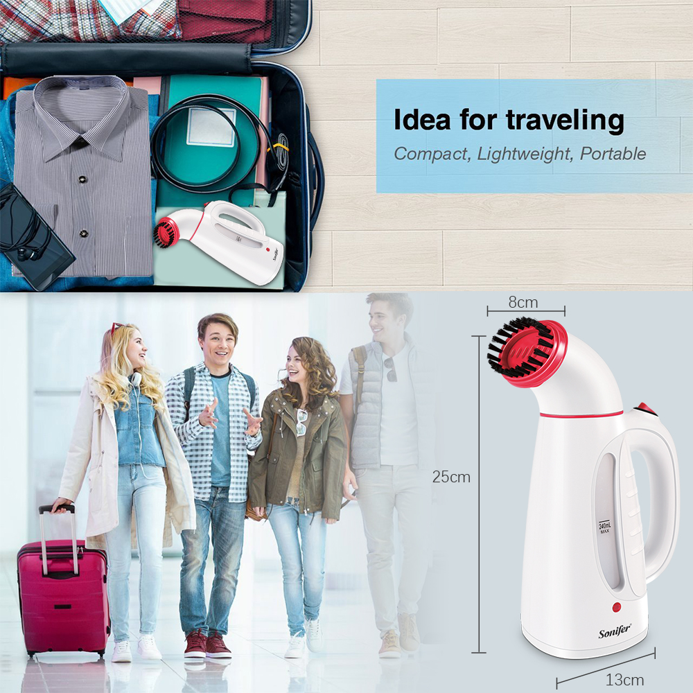 Image 4 - Travel Garment Steamer Iron Handheld Steamers Electric Brush for Ironing Clothes Portable Electric Iron For Clothes Sonifer-in Garment Steamers from Home Appliances