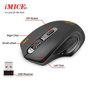 Image 4 - Беспроводная мышь iMICE 2000DPI, Регулируемая оптическая компьютерная мышь USB 3,0 с приемником 2,4 ГГц, эргономичные мыши для ноутбука, ПК, мыши