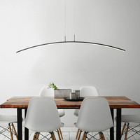 Nordic restaurant Hanglampen eenvoudige tafellamp led lijn lamp minimalistische stijl persoonlijkheid creatieve bar lamp WF4131506-in Hanglampen van Licht & verlichting op
