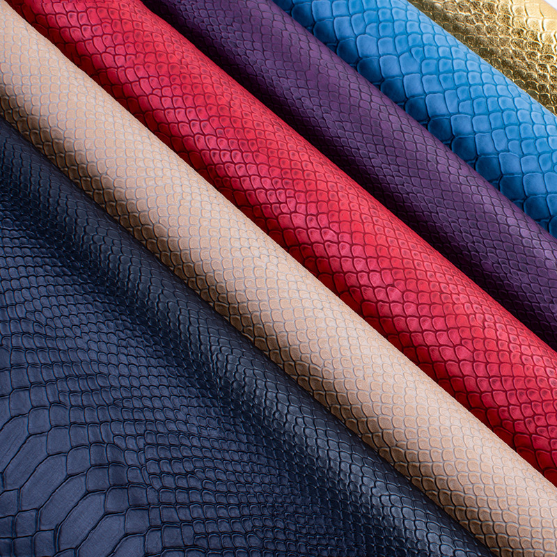 50cm*138cm PVC Snake Leather Fabric Synthetic Leather For DIY Handmade Sew Clothes Accessories Supplies
