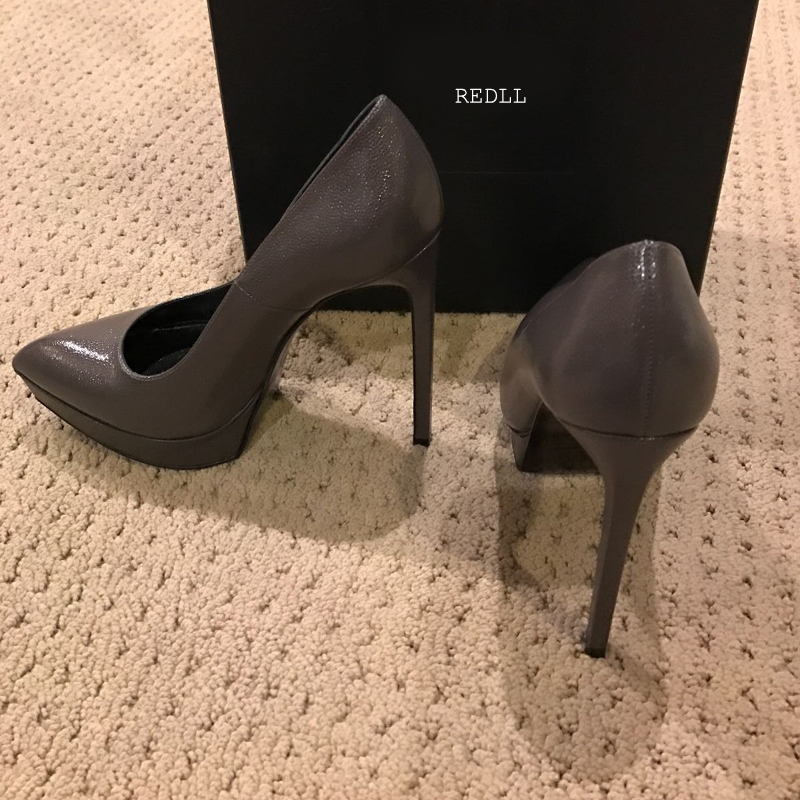 Hot Sale Women's Classics Pumps European Super High Heels 12.5cm Genuine Leather Thin Heels Shoes Shallow Platform Shoes Size 42