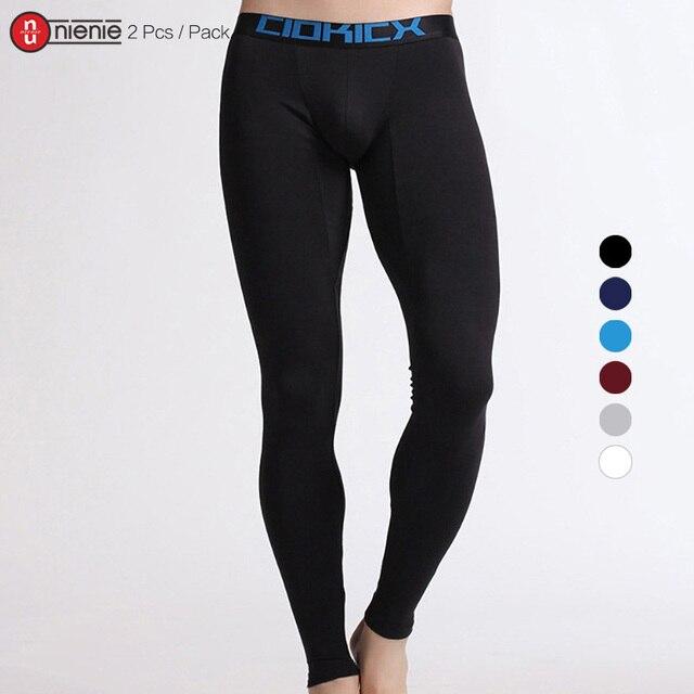 e561b5609 2 Pcs / Pack CIOKICX Free Shipping Men's basic Cotton Thermal Underwear  Long Johns Underpants Leggings Tights 6 Colors