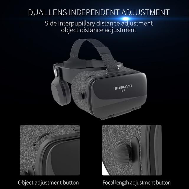 BOBOVR Z4 Update BOBO VR Z5 120 FOV 3D Cardboard Helmet Virtual Reality Glasses Headset Stereo Box for 4.7-6.2' Mobile Phone     3