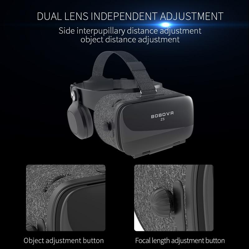 bobovr z4 120 fov 3d cardboard helmet and virtual reality glasses for 4.7-6.2′ mobile phones