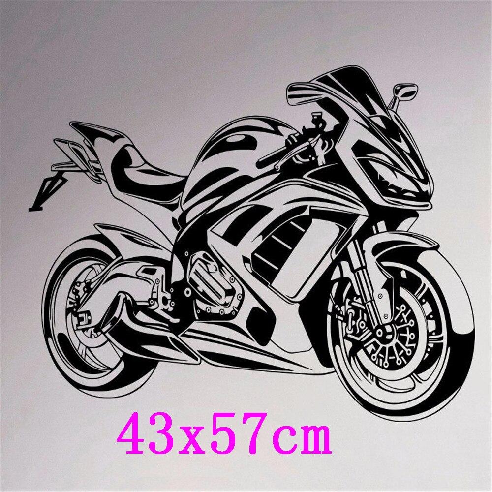 KEDODE Keren Olahraga Sepeda Motor Dekorasi Latar Belakang Mural