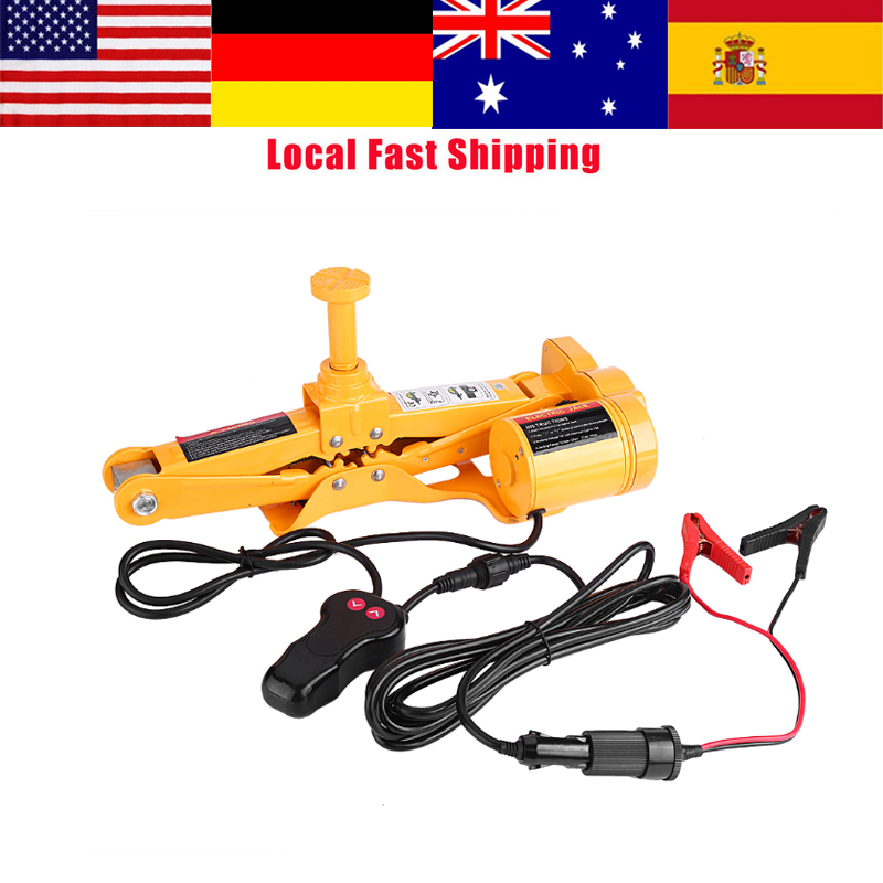 3Ton 12V DC Auto Electric Jack Automotive Lifting Jack Car Emergency Repair Equipment Tool w/ Impact Wrench New Arrival lithium rechargeable electric wrench wrench cordless impact wrench scaffolding installation tool can change car wheel