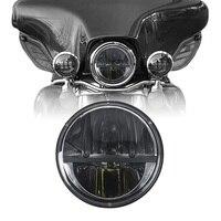 Motorcycle Headlight 7 Inch Round Led Hi Lo Beam Headlight For Harley Davidson Electra Glide Street Glide Road King Motorbike