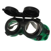 Black & Dark Green Vinyl Resin Flip Up Welding Safety Goggle Protect Solder Welder Goggles Double Lenses  Durable