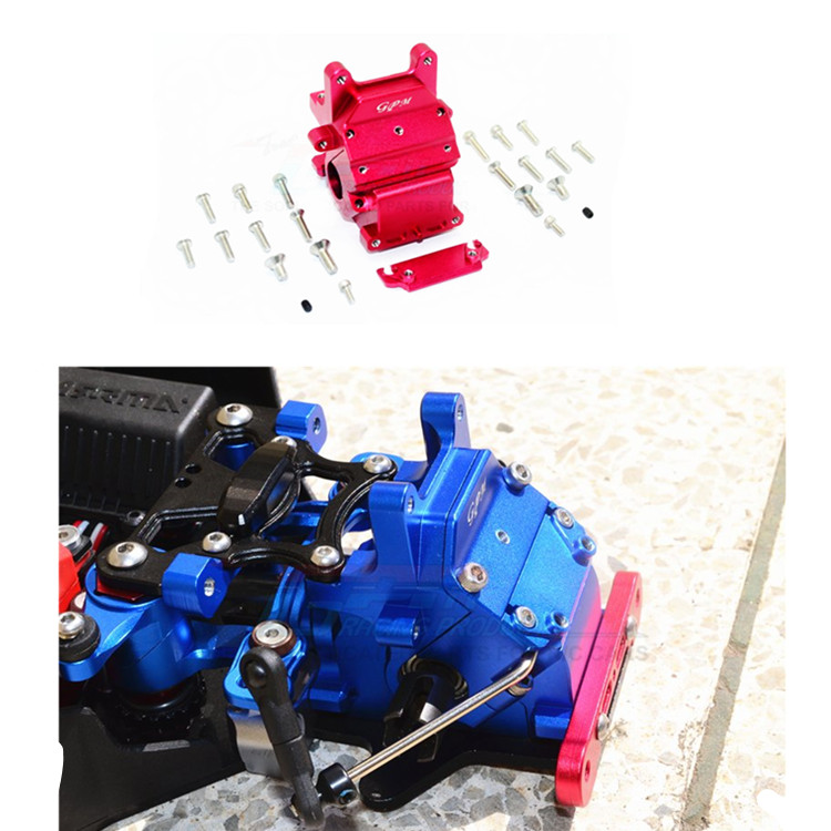 RC Car Part Alloy Front /Rear Gear Box Differential Shell for 1/8 ARRMA TYPHON SENTON TALION KRATON front diff gear differential gear for wltoys 12428 12423 1 12 rc car spare parts