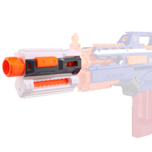 Modified Part Front Tube Decoration with Upper and Lower Guide Rail for Nerf Elite Series - Orange + Grey цена 2017
