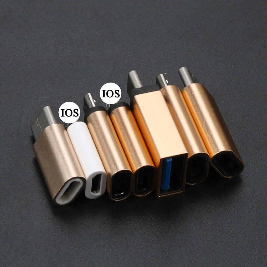 YuXi type-c convertisseur vers Micro USB 3.0 USB-C adaptateur pour iPhone et Android chargeur/Date câble connecteur vers Port iOS