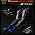 Laser Logo(S1000R) Blue+Titanium  New CNC Folding Extendable Motorcycle Brake Clutch Levers For BMW S1000R (w and w/o CC) 2014