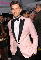 Linyixun 2016 New Custom Made Pink Tuxedos Best Man Suit Wedding Suits Business Suits (Jacket+Pants)