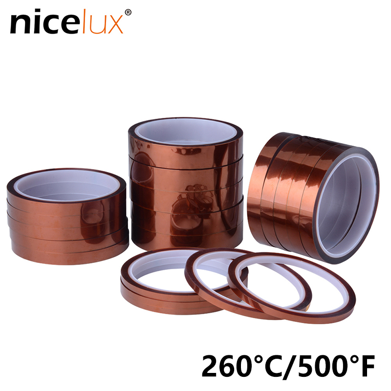 33meter X 5-30mm High Temperature Polyimide Tape Heat Resistant Insulation Polyimide Film Adhesive Tape 10mm #12