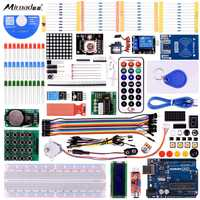 Miroad RFID Master Kit With Motor Servo LCD Various Sensors For Arduino IDE AVR MCU Learner
