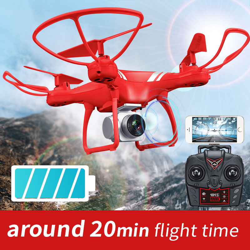 RC font b Drone b font K101S Recommend Upgraded Big Lithium Battery Fly 18 Mins RC